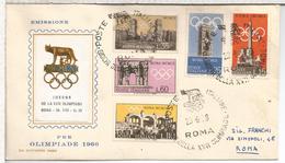 ITALIA ROMA FDC JUEGOS OLIMPICOS DE ROMA 1960