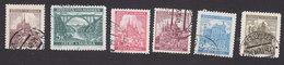 Bohemia And Moravia, Scott #42, 44, 52-53, 53A, 53C, Used, Castles, Bridge, Issued 1940-41