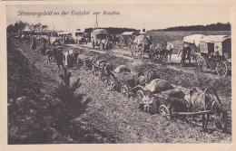 Stimmungsbild An Der Einfahrt Vor Grodno (Ambulances & Convois Allemands Sur La Route, Paysans & Moujiks En Cont - Belarus