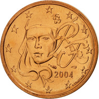 France, 2 Euro Cent, 2004, FDC, Copper Plated Steel, KM:1283 - France
