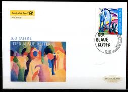 """First Day Cover Germany 2012 Mi.Nr.2911 Ersttagsbrief""""100.Jahrestag Künstlergruppierung,Der Blaue Reiter""""1 FDC"""