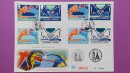 France FDC   Format (24,5x16)  TBE  De  2880 à 2883 Inaugurat° Tunnel Sous La Manche  Série N° 899 Du 3/5/1994 - FDC