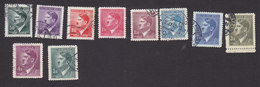 Bohemia And Moravia, Scott #65-67, 69-70, 72, 74-77, Used, Hitler, Issued 1942