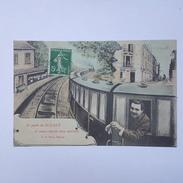 Je Pars De Sceaux Et Vous Envoie Mes Amitiés - La Poste - Train - Bel état - Sceaux