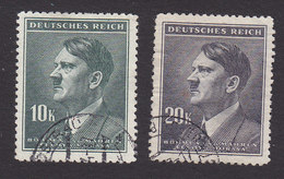 Bohemia And Moravia, Scott #80-81, Used, Hitler, Issued 1942