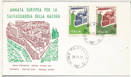 ITALIA ROMA FDC NATURALEZA
