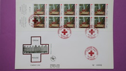 France FDC Format (24,5x16)  TBE  De N° 2915Au Profit De La Croix Rouge  Série N° 000002 Du 26/11/1994 - FDC