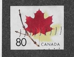 CANADA 2003  USED # 2013    RED MAPLE LEAF On TWIG  USED - Carnets