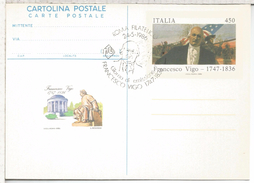 ITALIA ENTERO POSTAL FRANCESCO VIGO INDEPENDENCIA USA