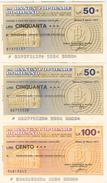 81 -  N.3 MINIASSEGNI BANCA POPOLARE DI MILANO - Monete & Banconote