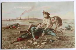 CPA WWI Chien Sanitaire Croix Rouge Illustrateur E. M 1916 - War 1914-18