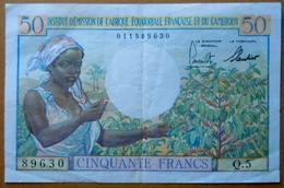 Billet 50 Francs Institut D'émission De L'Afrique équatoriale Française Et Du Cameroun - Autres - Afrique