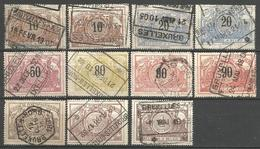 Belgique - Chemin De Fer - Entre TR15 Et TR 26  - Obl. BRUXELLES ... - 1895-1913