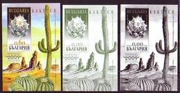 BULGARIA / BULGARIE - 2009 - Cactus - Bl Normal Rare Et 2BL Souvenir - Sukkulenten