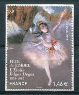 France 2017 - Fête Du Timbre - L'Etoile Edgar Degas (o) Sur Fragment