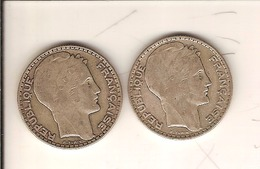 FR 045. LAVRILLIER ARGENT 10 FRS 1930 ET 1932 TTB A NETTOYER. Cote 30.00 €... - 70 % - France