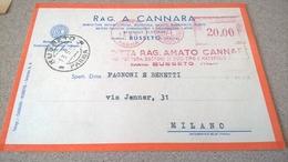 ITALIA EMA BUSSETO 1951 CANNARA MANIFATTURA BOTTONI - Affrancature Meccaniche Rosse (EMA)