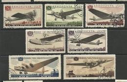 RUSSLAND RUSSIA 1937 Michel 571 - 577 Air Planes O