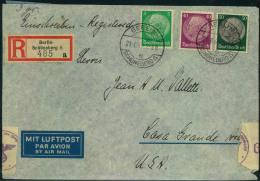 1940, Luftpost-Einschreiben Ab BERLIN-SCHÖNEBERG 21.6.40 Mit Zensur Nach USA. - Alemania