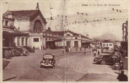 Luik, Liege La Gare Des Guillemins, Carte Plié, Geplooid (pk36177) - Liege