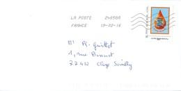 MonTimbraMoi / IDTimbre - Fédération Française Pour Le Don De Sang Bénévole - Le Sang, C'est La Vie - Sur Lettre