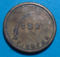 YUGOSLAVIA KOSOVO II W.W.TOKEN GERMAN ARMY PRIZEREN OSTERTAG, BRONZE, VERY RARE - Jetons En Medailles