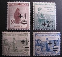LOT R1624/19 - AU PROFIT DES ORPHELINS DE LA GUERRE - N°162 à 165 - Neufs * - France
