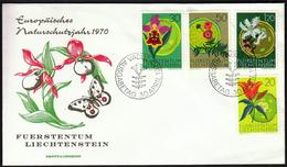 Liechtenstein 1970 / The European Year Of Nature Protection / Flowers