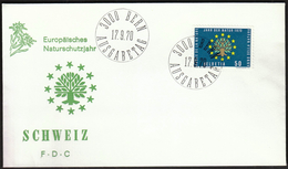 Switzerland 1970 / The European Year Of Nature Protection / Tree