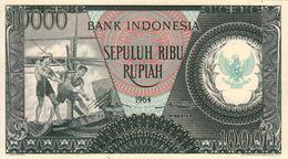 *  INDONESIA 10000 RUPIAH 1964 P-101a [ID555a] - Indonesia