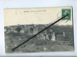 CPA -  Saissac  -  Ruines Du Château Et L'église - Autres Communes