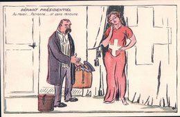 Politique Suisse, Départ Présidentiel Par Illustrateur, Litho (1706) - Satiriques