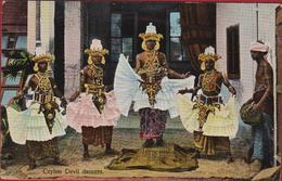 Sri Lanka Ceylon SINGHALESE DEVIL DANCERS Old Postcard Ethnique Asie Etnic Asia Etnisch Azie OLD POSTCARD ETHNIC - Sri Lanka (Ceylon)