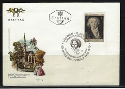 ÖSTERREICH - FDC Mi-Nr. 1352 - 200. Geburtstag Von Ludwig Van Beethoven Stempel Wien (11) - FDC