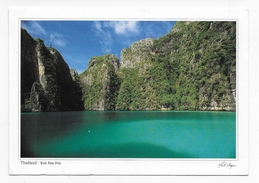 (RECTO / VERSO) THAILANDE - PEE PEE ISLANDE - KRABI - PETIT ACCROC EN HAUT - CPM GF VOYAGEE AVEC TIMBRE - Thailand