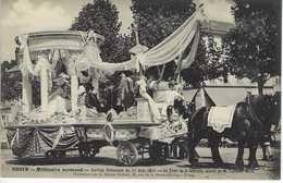 CPA Rouen Millénaire Normand 1911 Cortège Historique Char De La Dentelle Brabant Morel Argentan - Rouen