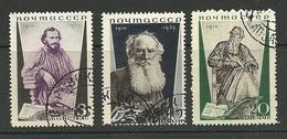 RUSSLAND RUSSIA 1935 Michel 536 - 538 A Tolstoi O