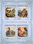 GUINEA 2017 - Neanderthals, Prehistorics. Official Issue - Prehistorie