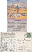 AK Kolonien Südwestafrika Soldatengräber Liedkarte Rudolf Presber, Von Hanau Nach Zeitz - Ehemalige Dt. Kolonien