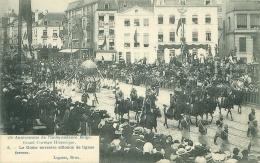 75e Anniversaire De L'Indépendance Belge - Grand Cortège Historique - Le Globe Terrestre - Feesten En Evenementen
