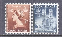 COOK  ISLANDS  145-6    *   Q.E. II  CORONATION  1953 - Cook Islands