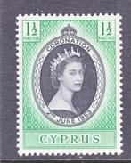 CYPRUS  167   *   Q.E. II  CORONATION  1953 - Cyprus (...-1960)