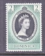 DOMINICA  141   *   Q.E. II  CORONATION  1953 - Dominica (...-1978)