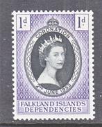 FALKLAND ISLANDS DEPENDENCIES  1L18   *   Q.E. II  CORONATION  1953 - Falkland Islands