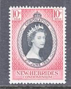 NEW  HEBRIDES  77   *   Q.E. II  CORONATION  1953 - Unused Stamps