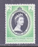 ST. CHRISTOPHER-NEVIS-AMGUILLA  119   *   Q.E. II  CORONATION  1953 - St.Christopher-Nevis-Anguilla (...-1980)