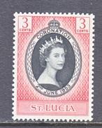 ST. LUCIA  156   *   Q.E. II  CORONATION  1953 - St.Lucia (...-1978)