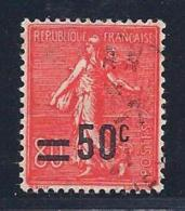 France, Scott # 232 Used Sower, Surcharged, 1927