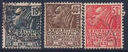France, Scott # 258-60 Used French Colonials, 1930