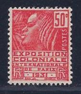 France, Scott # 260 Type 2 Mint Hinged Fachi Woman, 1930 - France